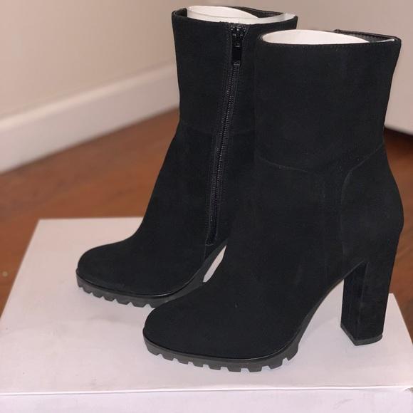 Fresi Black Suede 4 Heel Boots Size 7
